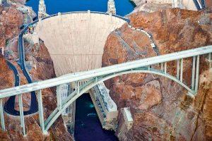 Overhead image of Hoover Dam