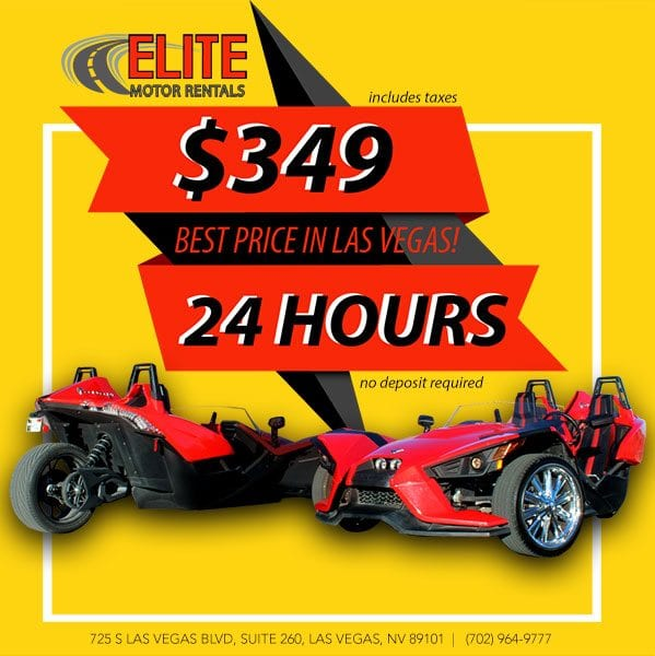 $349 per day slingshot rental