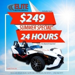 24 Hours Summer Special $249! Elite Motor Rentals, Polaris Slingshot Rental