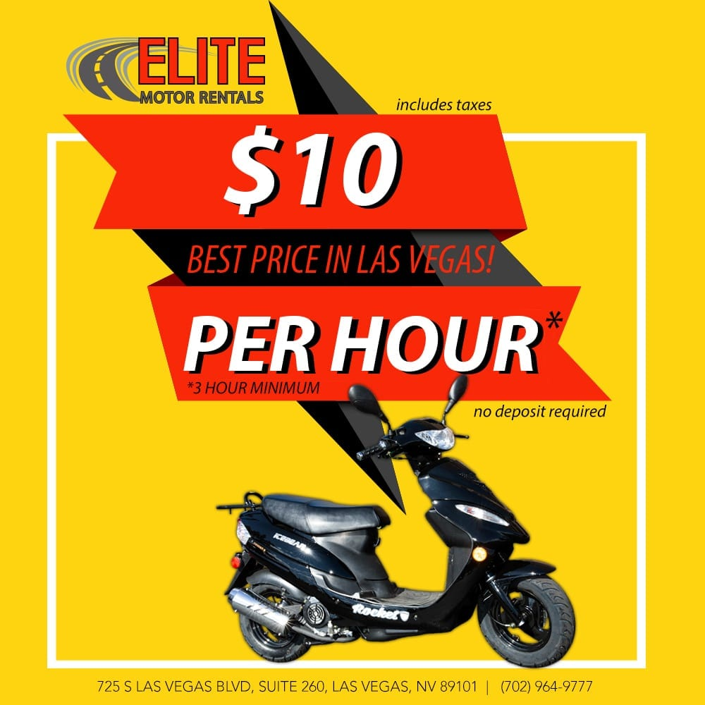 $10 per hour Scooter rental