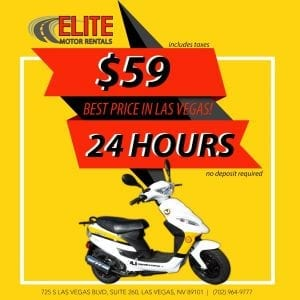 $59 per day Scooter rental
