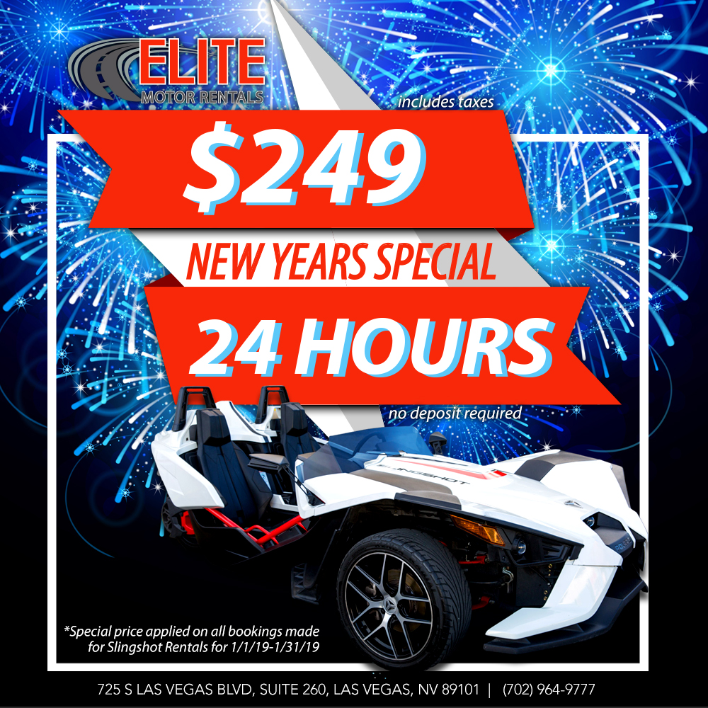 New Years Special Promotional Banner, Elite Motor Rentals Las Vegas